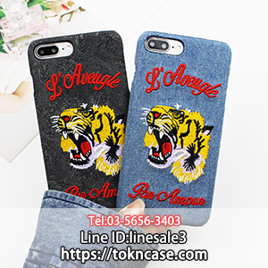 online store 6e2dd 4ea20 GUCCI風 iphone8ケース 刺繍虎 デニム調 iphone7 iphone7PLUS ...